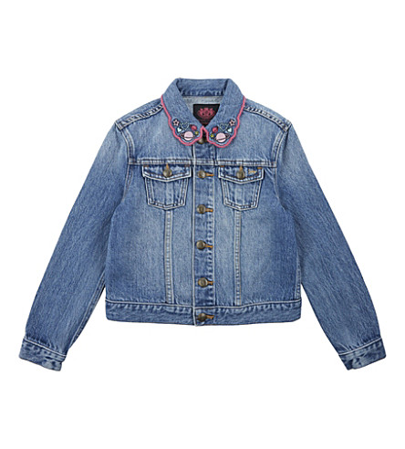 JUICY COUTURE Wild Hearts cotton denim jacket 4-14 years (Beverly+wash
