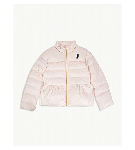 JUICY COUTURE Frilled quilted down jacket 4-14 years (Whisper+pink