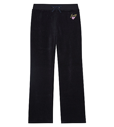 JUICY COUTURE Heart Expressions velour cotton jogging bottoms 4-14 years (Regal