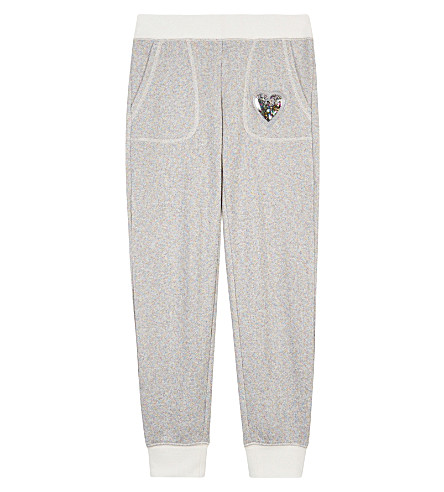 JUICY COUTURE Sparkling terry jogging bottoms 4-14 years (Rnbow+lrx+terry