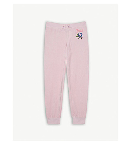 JUICY COUTURE Pansy party velour jogging bottoms 4-14 years (Begonia