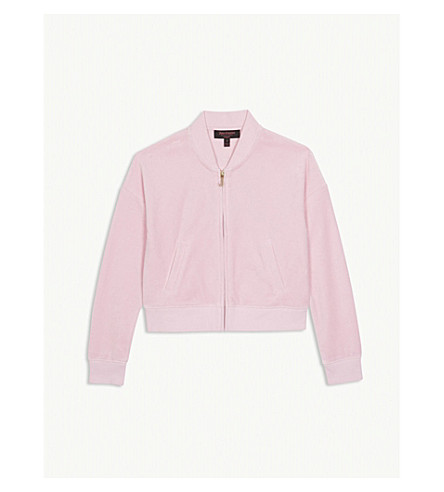 JUICY COUTURE Pansy Party velour jacket 4-14 years (Begonia