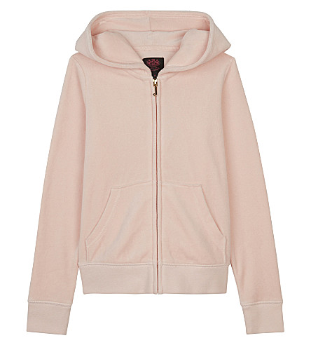 JUICY COUTURE Robertson velour hoody 4-14 years (Powder+pink