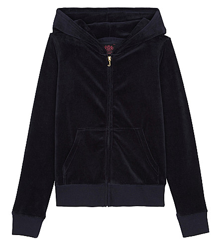 JUICY COUTURE Robertson velour hoody 4-14 years (Regal