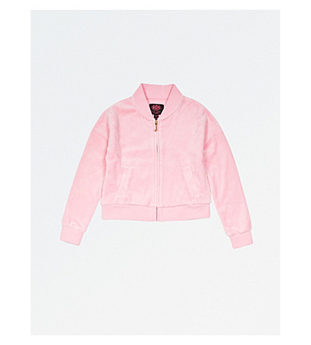 JUICY COUTURE Embroidered velour jacket 4-14 years (Palace