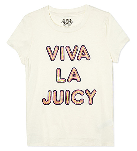 JUICY COUTURE Viva La Juicy t-shirt 4-14 (Vanilla
