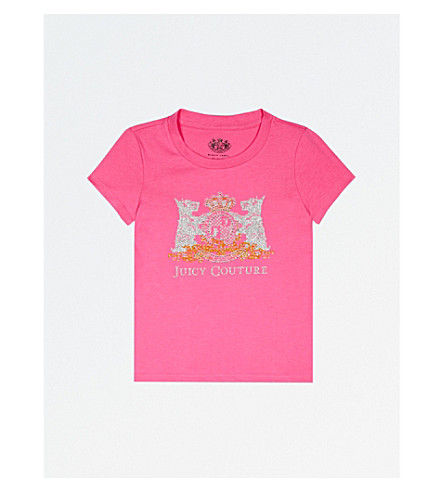 JUICY COUTURE Scotty crest cotton T-shirt 4-14 years (Highlighter