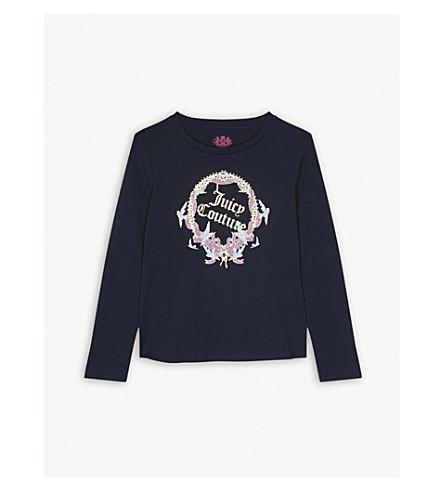 JUICY COUTURE Glitter wreath logo cotton top (Regal