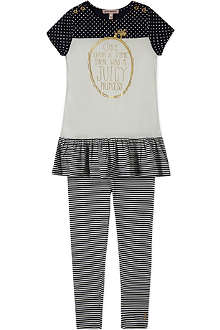 JUICY COUTURE Striped fairytale dress and leggings set