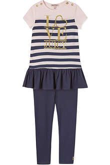 JUICY COUTURE Striped dress and leggings set
