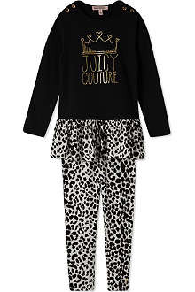 JUICY COUTURE Animal print dress and leggings set