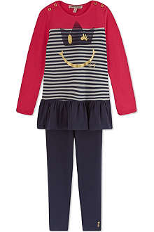 JUICY COUTURE Striped dress and leggings set 2-6 years
