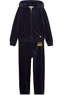 JUICY COUTURE Glitter print velour tracksuit 2-6 years