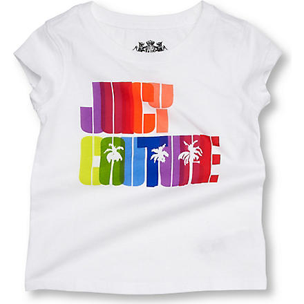 JUICY COUTURE Rainbow logo t-shirt 2-6 years (White