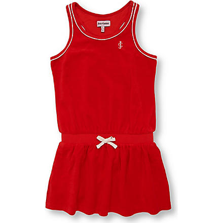 JUICY COUTURE Velour dress 7-14 years (Red
