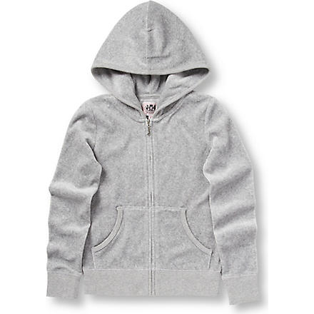 JUICY COUTURE Crest velour hoody 7-14 years (Grey