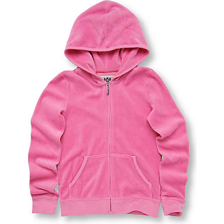 JUICY COUTURE Crest velour hoody 7-14 years (Pink