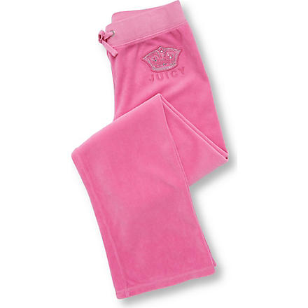 JUICY COUTURE Crest jogging bottoms 7-14 years (Pink