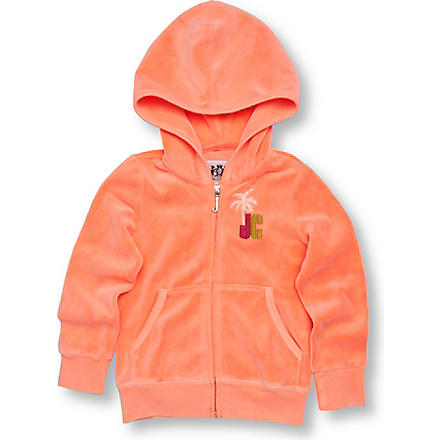 JUICY COUTURE Rainbow logo velour hoody 2-6 years (Melon