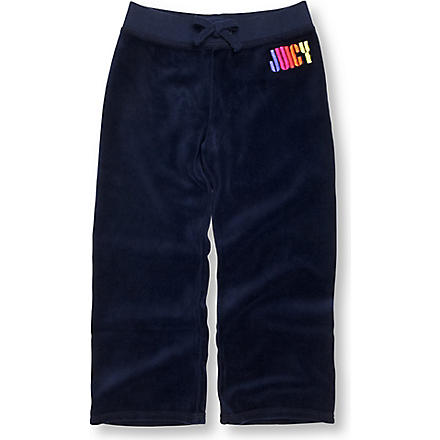 JUICY COUTURE Rainbow logo velour jogging bottoms 2-6 years (Navy