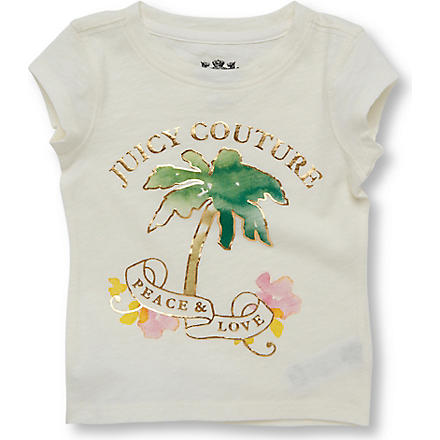 JUICY COUTURE Palm tree t-shirt 2-6 years (Cream