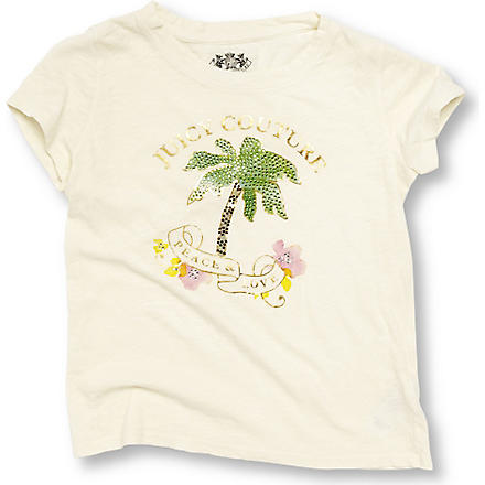 JUICY COUTURE Embellished t-shirt 7-14 years (Cream