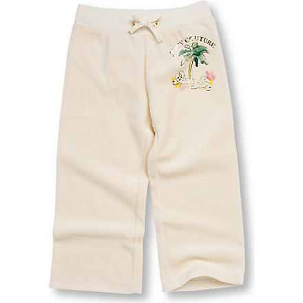 JUICY COUTURE Palm tree jogging bottoms 2-6 years (Cream