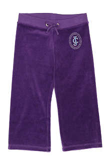 JUICY COUTURE Tiara Crest velour jogging bottoms 2-14 years