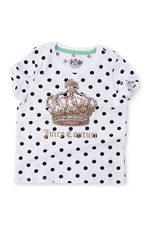 JUICY COUTURE Spotty crown t-shirt 2-14 years
