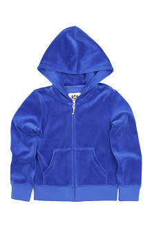 JUICY COUTURE Sparkle logo velour hoody 2-14 years