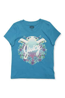 JUICY COUTURE Floral crest t-shirt S-XL