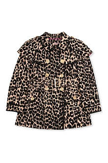 JUICY COUTURE Leopard-print trench coat 2-14 years