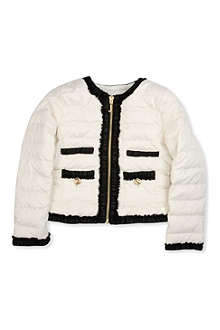 JUICY COUTURE Georgette trim padded jacket XS-XL