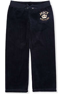 JUICY COUTURE Crown-embellished velour trousers XS-XL