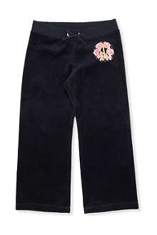 JUICY COUTURE Rose logo velour tracksuit bottom XS-XL