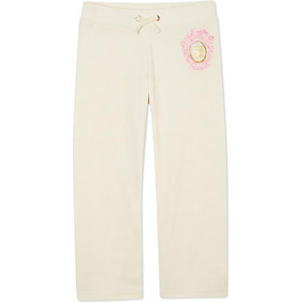 JUICY COUTURE Choose cameo velour jogging bottoms XS-XL (Cream