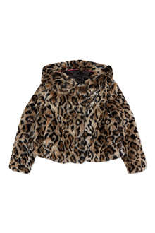 JUICY COUTURE Faux-fur leopard-print jacket 2-14 years