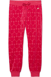 JUICY COUTURE Velour heart jogging bottoms