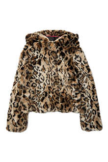 JUICY COUTURE Faux fur hooded jacket