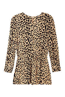 JUICY COUTURE Leopard-print playsuit 7-14 years
