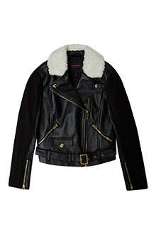 JUICY COUTURE Shearling leather look biker jacket 7-14 years