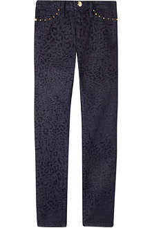 JUICY COUTURE Leopard flocked jean 7-14 years