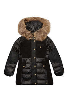 JUICY COUTURE Faux fur trim quilted coat 7-14 years