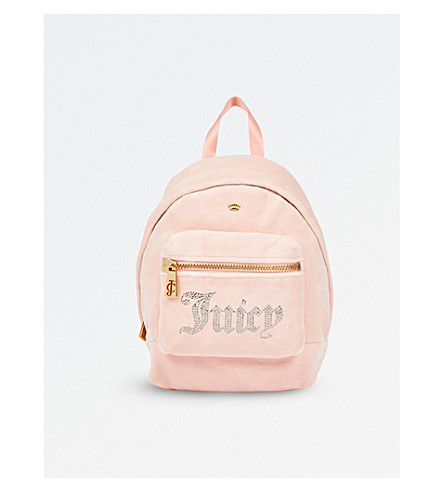 JUICY COUTURE Sequin-embellished velou backpack (Pink
