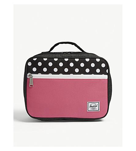 HERSCHEL SUPPLY CO Pop Quiz geometric-print lunch box (Black+polkadot