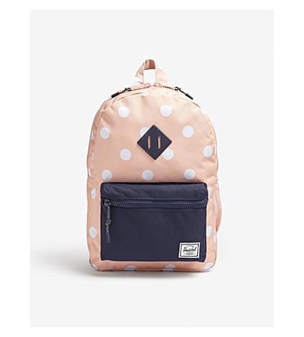 HERSCHEL SUPPLY CO Heritage polka dot canvas backpack