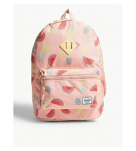 HERSCHEL SUPPLY CO Heritage fruit-print backpack (Pale+pink