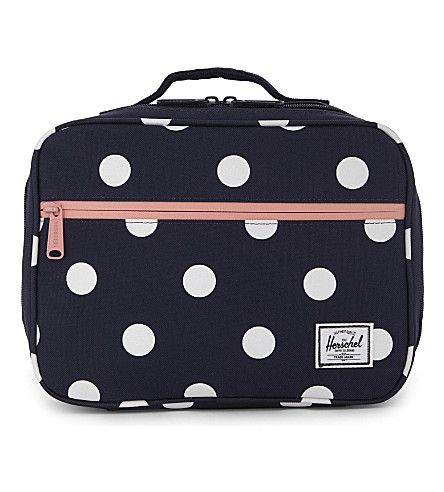 HERSCHEL SUPPLY CO Polka dot lunch box (Peacoat+polk+dot