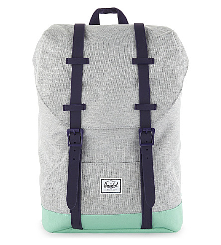 HERSCHEL SUPPLY CO Tonal trim Retreat backpack (Light+grey