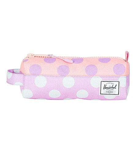 HERSCHEL SUPPLY CO Settlement polka-dot pencil case (Lupine+polke+dot